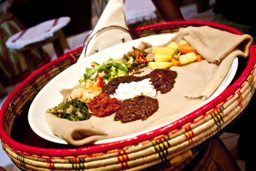Ethiopian dinner - mixed platter