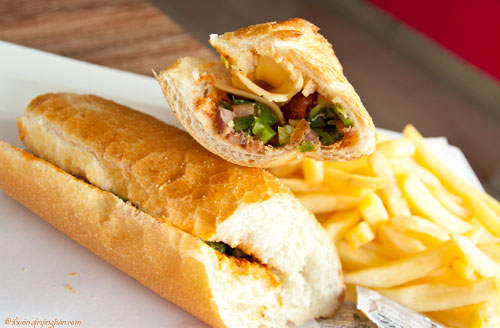 Merguez and cheese sandwich  - Taste Tunisia - Dubai