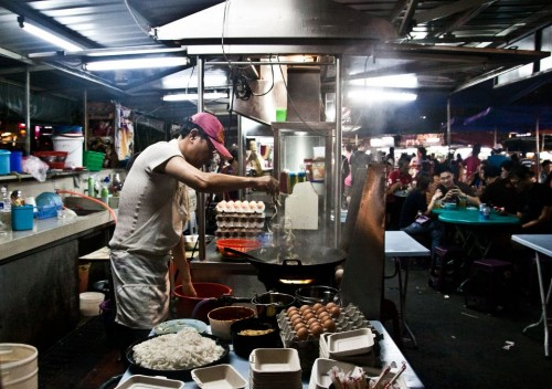 Kway Teow on Penang's Night Market on Gurney Drive