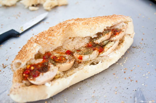 Salahuddin Egg and Ka'ak Sandwich - Amman Jordan