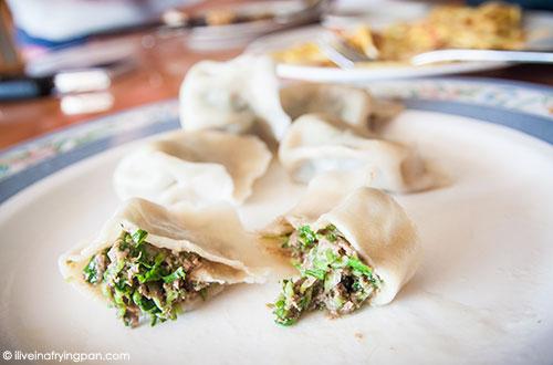 Lamb and coriander dumplings - Dumpling Queen - International City - Dubai