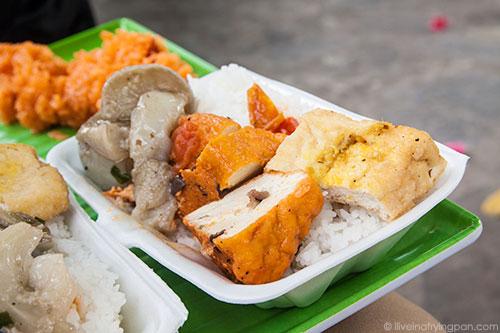 Tofu and rice - Saigon Street Eats - Ho Chi Minh City - Vietnam