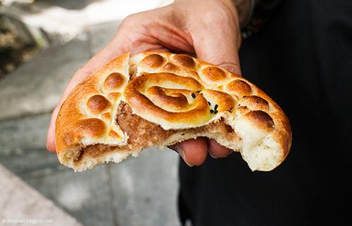 Koolocheh - Street-side bakery - Tehran Iran