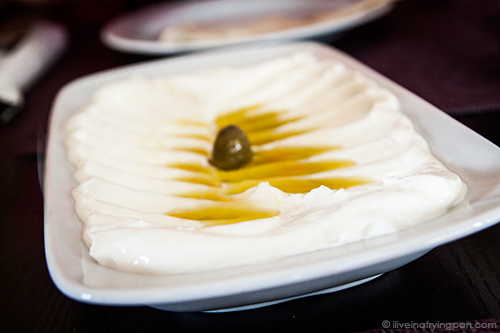 Garlic labneh - Musaharati Restaurant - Mankhool - Dubai