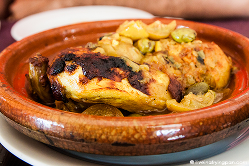 Chicken with Preserved Lemons and Olives Tagine - Musaharati Restaurant - Mankhool - Dubai