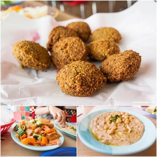 Falafels, fattoush and qudseya - Hummus - Al Dimyati & Iskandaron Restaurant - Karama - Dubai - Arabic food