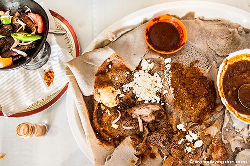 Doro Wot, Kara Mara Tibs and Misir Wot - Mechot Restaurant - Ethiopian - Naif Frij Murar Baraha - Dubai