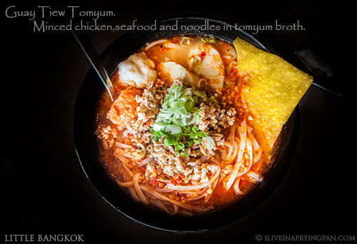 Minced chicken and seafood in tomyum broth - Little Bangkok - Thai Restaurant - Oud Metha Dubai