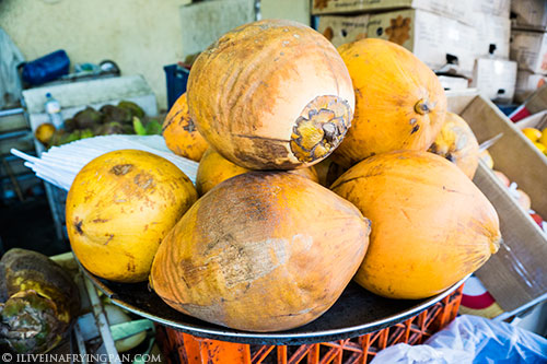 Sri Lankan coconuts - Deira Fish & Vegetable Market - Dubai