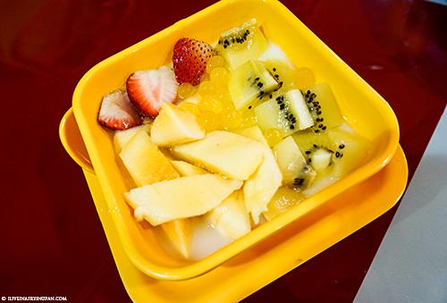 Milk and Fruit Pudding - Honey Ice Cream Dessert Shop - Taiwanese Taro Balls - Muteena Deira
