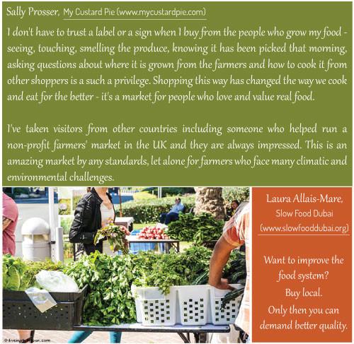 Sally Prosser my custard pie and Laura Allais-Mare slow food dubai - Farmers Market on the Terrace - Dubai