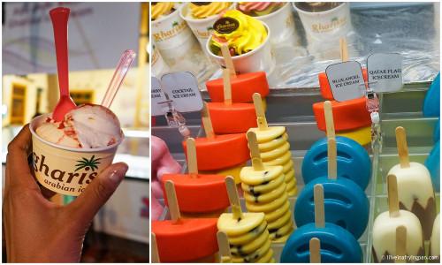 Gharissa ice cream - Doha Qatar - Rahash - #QIFF2015 - Qatar International Food Festival