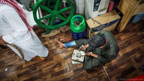 Making knives - Souq Waqif - Doha Qatar